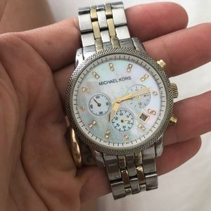 Michael Kors two-tones watch
